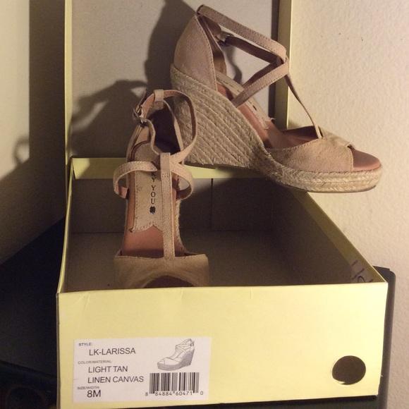 d01383a69397 Lucky Brand Shoes - Lucky Brand Larissa Tan Wedge Espadrilles 8